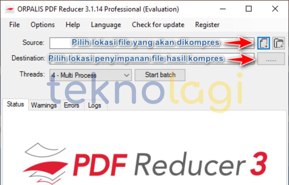 Mengecilkan PDF dengan ORPALIS PDF Reducer