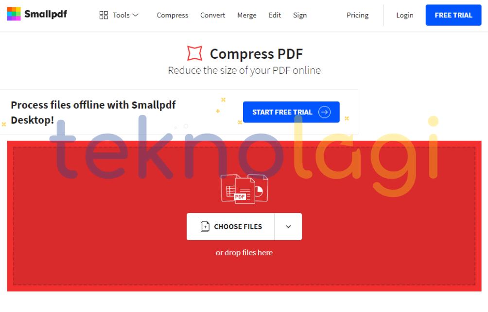 Cara Kompres Ukuran PDF Online