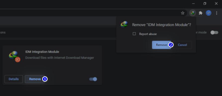 Menghapus Ekstensi IDM di Google Chrome